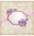 label with flowers vector image vector image