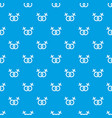 lesbian love sign pattern seamless blue vector image