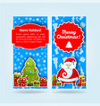 light blue holiday banner set vector image vector image