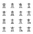 lighthouses navigational aid towers linear vector image