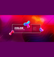 liquid color covers set fluid shapes composition vector image vector image