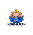logo medical team simple mascot style vector image