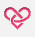 lovinity - eternal love symbol with deep paper vector image vector image
