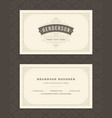 luxury business card and vintage ornament logo vector image vector image
