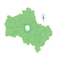 map of moscow region vector image vector image