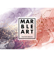 marble abstract liquid coral and navy shape vector image vector image