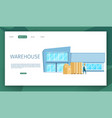 modern glass working warehouse building design vector image