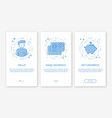 Onboarding app screens and