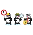 Panda Mascot with money vector image vector image