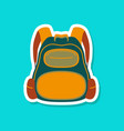 paper sticker on stylish background school bag vector image vector image
