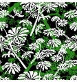 Pattern with tropical trees and leaves vector image vector image