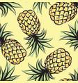 Pineapple watercolor seamless pattern juicy