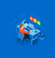 programmer at work concept can use for web banner vector image