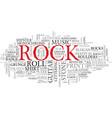 rock word cloud concept vector image