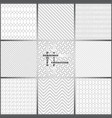 seamless pattern set fs vector image vector image