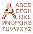 Set of doodle letters with abstract pattern on vector image vector image