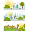 Set Sport and Fitness Banners vector image