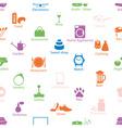 shop department color symbols seamless pattern vector image
