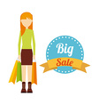 shopping people design vector image vector image
