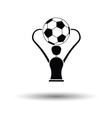 Soccer cup icon vector image
