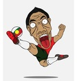 soccer player Portugal vector image vector image
