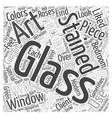 stained glass art auctions Word Cloud Concept vector image vector image