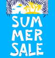 summer shopping background summer sale lettering vector image