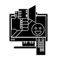 telemarketing icon sign o vector image vector image