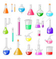 test-tube flask chemical glass test tubes vector image