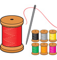 Thread and needles vector image