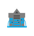 tsunami building flood house many of water vector image vector image