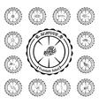vintage set seafood elements for your design vector image vector image