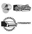 vintage typography emblems vector image vector image