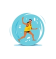 Water Zorbing Cartoon vector image