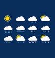 weather icons season climate precipitation rain vector image