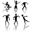 zombie silhouette collection vector image
