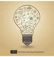 idea derive from learning and experience vector image