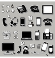 Set of electronic symbols vector image