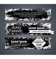 set of blackboard horizontal banners vector image