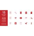 15 washing icons vector image vector image