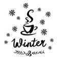 a winter sketch vector image