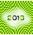 Abstract patterns of color flag of Brazil with vector image vector image