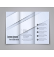 Abstract template brochure for design vector image vector image
