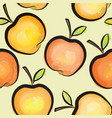 apple watercolor seamless pattern juicy fruits vector image vector image