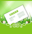 banner with green grass vector image vector image