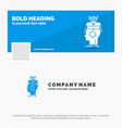 blue business logo template for sousveillance vector image