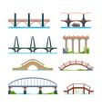 bridges flat architectural urban objects bridge vector image
