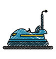 bumper car vector image