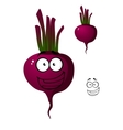 Cartoon beetroot vegetable character vector image vector image
