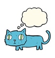 cartoon cat with thought bubble vector image